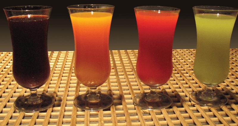 Lækker juice fra juicemaskinen