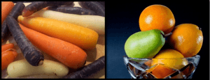 Grøntsager og frugt til juice